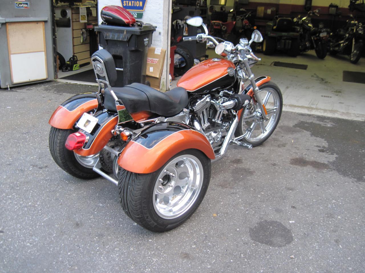 trike building harley sportster motorcycle trikes 1200 enlarge glory